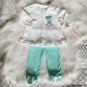 Nannette Baby Girl 2pc Pajamas 3-6 mths